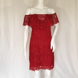 Guess woman dress size m red color